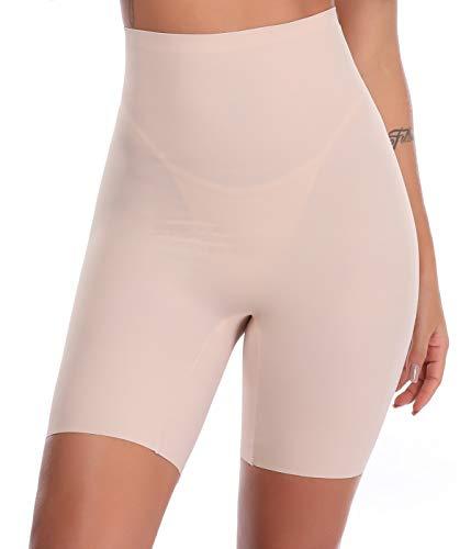 SLIMBELLE Donna Modellante Vita Alta Guaina Intimo Shapewear Mutande Contenitiva Slip Contenitive Pancia Pancera da Dimagrante Shaper Up Snellente-Beige-M