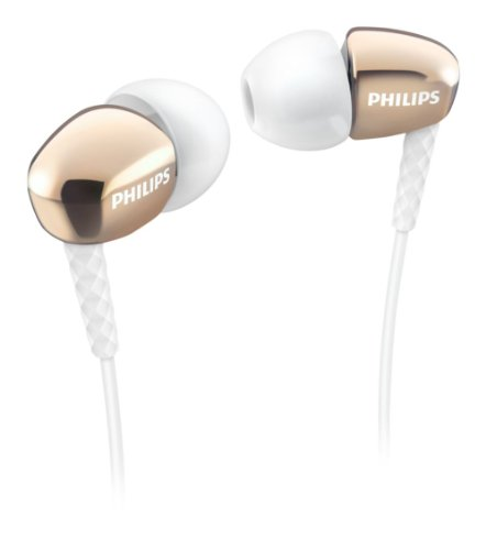 Philips SHE3900GD/00 Casque Intra-aural écouteur Or - Casques (Intra-aural, écouteur, avec Fil, 10-22000 Hz, 1,2 m, Or)