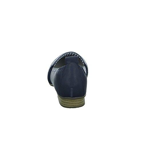 Alyssa SH0630 Damen Slipper Halbschuh eleganter Boden Blau (Blau)