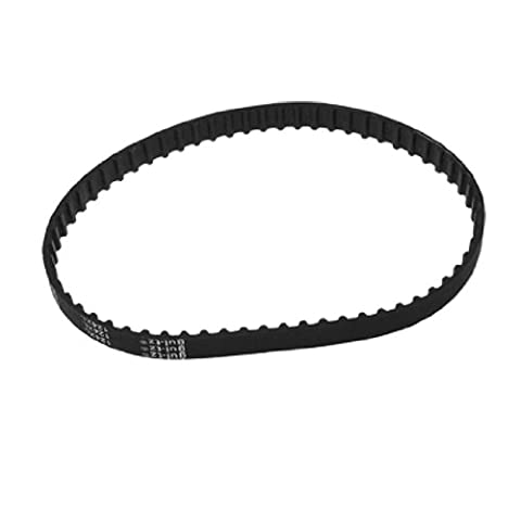 sourcingmap® 10mm Wide 62 Teeth 124XL Black Industrial Drive Timing Synchronous Belt