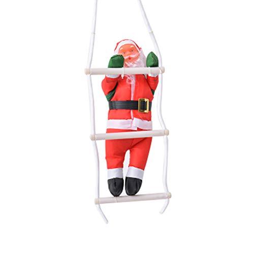 Deanyi scala di natale babbo natale ornamenti babbo natale arrampicata sulla scala di corda per albero di natale appeso ornament decor xmas party natale home porta decorazione a parete