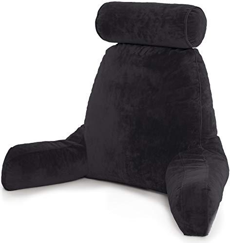 Husband Pillow Almohada Esposo-Gran Soporte de Cama para Descansar y Leer Cómodo - Maroon