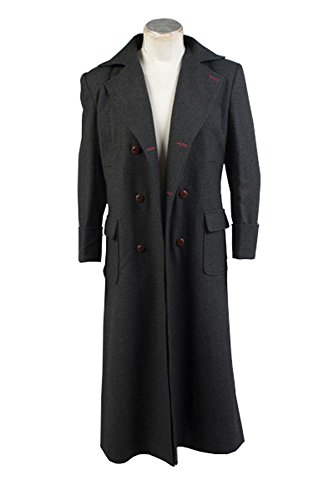 Sherlock Holmes Cape Coat Cosplay Kostüm - Wolle Version DZ (Sherlock Holmes Kostüm Halloween)