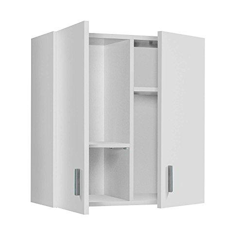 HABITMOBEL Armario Multiusos para Colgar, Color Blanco, Medidas: 60 x 59 x 26,5 cm de Fondo