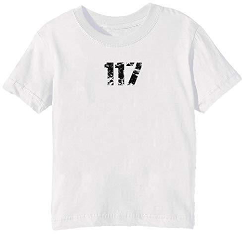 Chief Kinder Unisex Jungen Mädchen T-Shirt Rundhals Weiß Kurzarm Größe 3XS Kids Boys Girls White XXX-Small Size 3XS ()