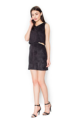 Figl Mini robe en daim inimitable Noir
