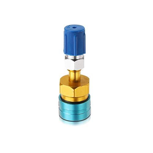 SAXTEL Schnellmontage-Verbindungsstück aus Aluminiumlegierung, Verteiler-Kühlmittelzubehör, Kupplung, langlebig, verstellbar, Ersatz für Low-Seite, für R1234YF