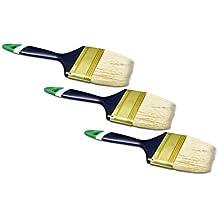 24 x PROFI Flachpinsel 25-100mm Malerpinsel Lackpinsel Lasur  Flach Acryl