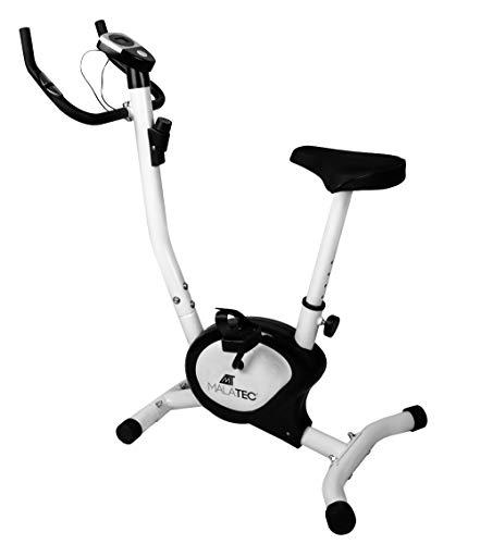 Bicicleta Estática de Fitness Aparato Doméstico Plegable con Consola y Sensores de Pulso en Manillar Negro Blanco 7625, Farbe / Color:Weiß / white