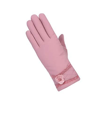 GladiolusA Damen Winterhandschuhe Thermofutter Winddicht Handschuhe Touchscreen Fingerhandschuh DPink