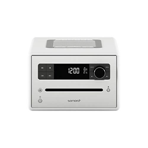 sonoro CD 2 Design Digitalradio Radio-Wecker (FM/DAB/DAB+, CD-Player, AUX-in, Bluetooth, Meditation) Weiß (matt)
