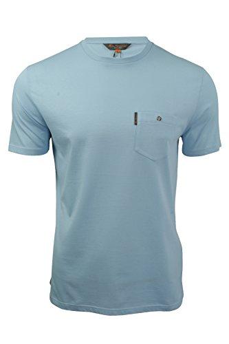 ben-sherman-camiseta-basico-manga-corta-para-hombre-azul-azul-claro-medium