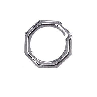 Broadroot Titanium TC4 Ti Key Chain Octagon Key Ring Keychain CNC Size 20mm
