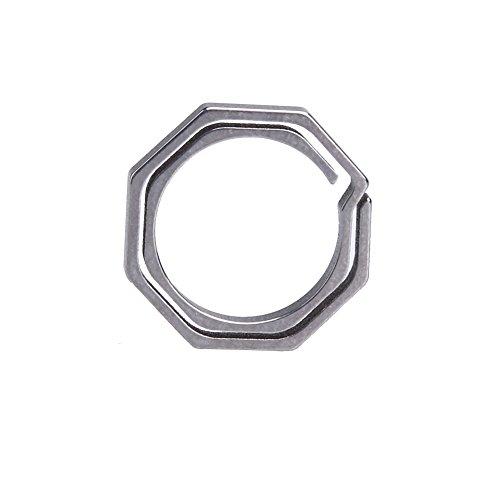 Broadroot Titan TC4 Ti Schlüsselanhänger Octagon Schlüsselring Schlüsselbund CNC Größe 20mm