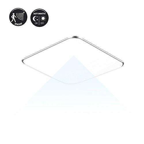 SAILUN 12W Kaltweiß Ultraslim LED Sensor Deckenleuchte Modern Wandleuchte mit Bewegungsmelder Deckenlampe Sensor Flur Energie Sparen Licht Wandleuchte (Licht-sensor-led)