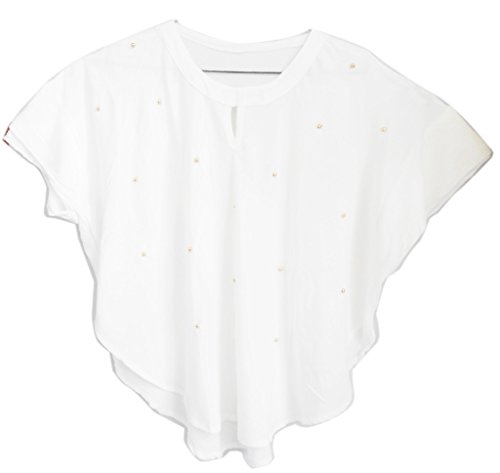 TRIUMPHIN White Women Cotton Ponchu For Dailywear and Western Wear Women Tops