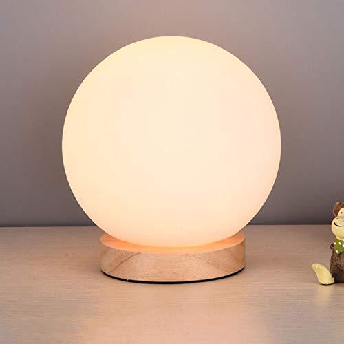 DRQ Einfache Schlafzimmer Nachttisch Lesen Schreibtischlampe Baby Fütterung Nordischen Augenschutz Lernen Dimmen Nachtlicht,5.5in-Pushbuttonswitch