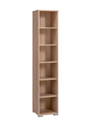MAJA-Möbel 1734 5525 Aktenregal, Sonoma-Eiche-Nachbildung, Abmessungen BxHxT: 42 x 214 x 40 cm