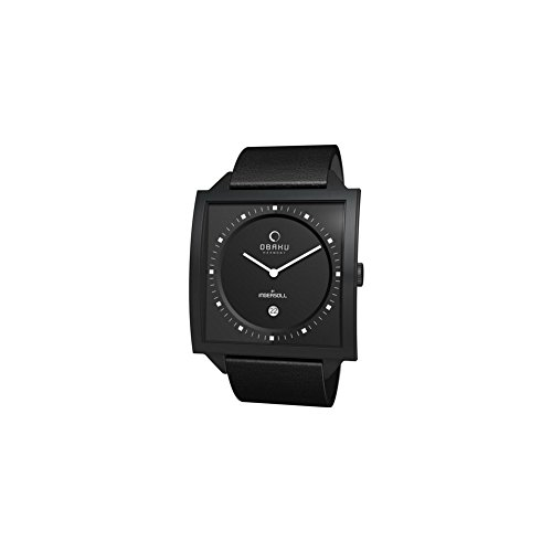 Obaku Harmony - V116U BBRB - Montre Mixte - Quartz - Analogique - Bracelet cuir noir