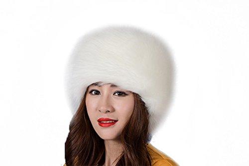 Genda 2Archer Fashion Style russe chapeau rond fausse fourrure Chapeaux de femmes Blanc