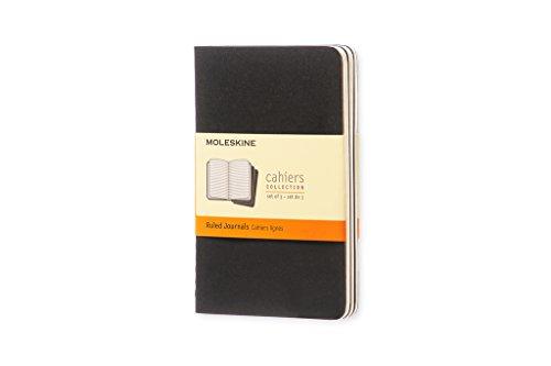 Moleskine Cahier Notizhefte (liniert, Pocket, Kartoneinband) 3-er-Set - Seiten 200 Kleines Notizbuch,