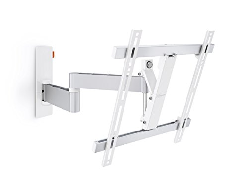 Vogel's Wall 2245 Soporte de pared para Pantallas de 32-55 pulgadas, orientable e inclinable, Máx. 20 kg, VESA Max. 400 X 400 mm - Blanco/Plateado