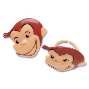 Curious George Cupcake Rings - 24 ct by Bakery Supplies (Curious George Cupcakes)