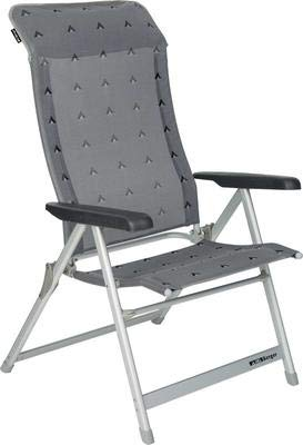 Berger Klappsessel XL, grau, Aluminium, Belastbar bis 200 kg, breite Sitzfläche 57 cm, Klappstuhl, Campingstuhl