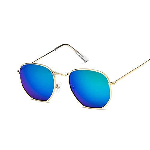 WERERT Sportbrille Sonnenbrillen Polygonal Sunglasses Women Glasses Lady Retro Metal Sun Glasses Female Vintage Mirror Feminino Uv400