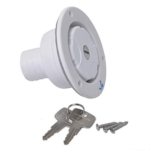 Preisvergleich Produktbild LIOOBO RV elektrische Kabel Luke für mit Schloss für Wohnmobilanhänger Autos (weiß)
