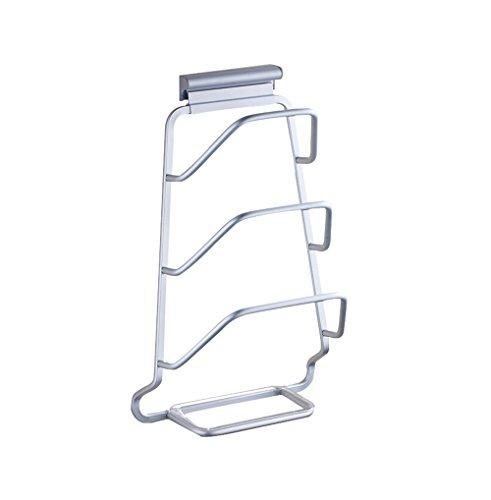 GBY Küchenregal Küchenregal, Multi-Layer-Topf Rack Wand hängenden Deckel Lagerregal Raum Aluminium Mehrzweck-Lagerregal (Hängende Topf-deckel Rack)