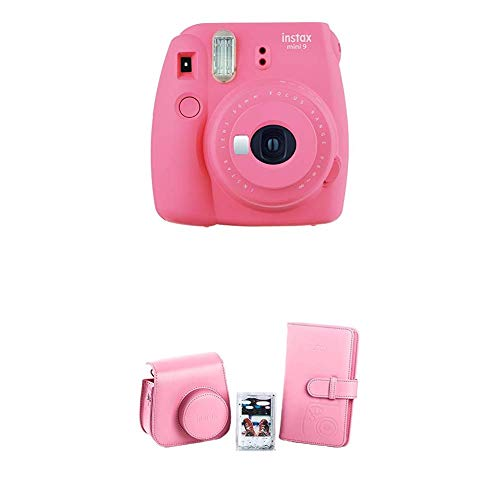 Fujifilm Instax Mini 9 Kamera flamingo rosa + Mini 9 Accessory Kit Flamingo Pink