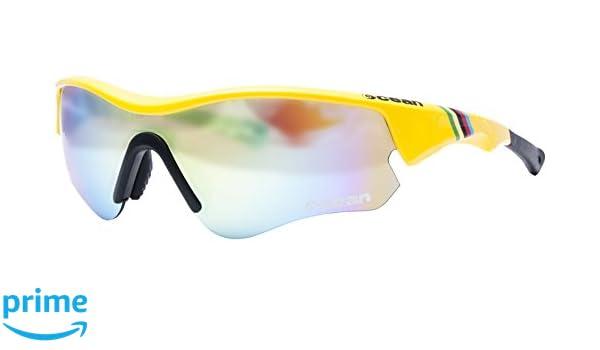 Ocean Sunglasses Iron - lunettes de soleil - Monture : Jaune Laqué - Verres : Revo Jaune (94000.7)