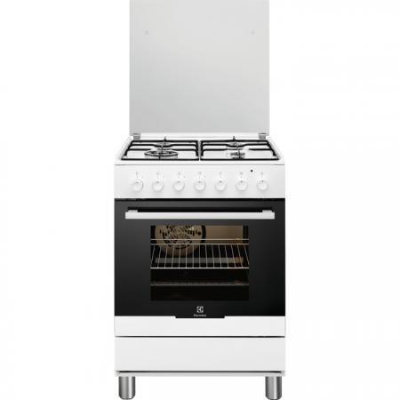 Electrolux - Cucinetta con Piano Cottura a Gas e Forno Elettrico RKK61300OW Finitura Bianco da 60cm