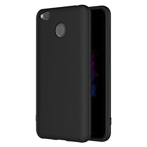 AICEK Xiaomi Redmi 4X Hülle, Schwarz Silikon Schutzhülle für Redmi 4X Case TPU Bumper Xiaomi Redmi 4X Handyhülle