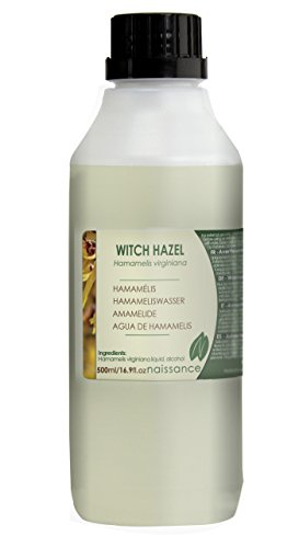 Naissance Distilled Witch Hazel 500ml - Pure, Natural, Cruelty Free, Vegan - Cleansing & Toning - Ideal for Aromatherapy, Skincare and DIY Beauty Recipes