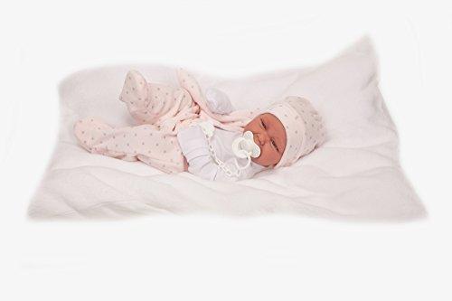 Antonio Juan aj5022–Recien nacida Carla Cojin muñeca realista, color rosa