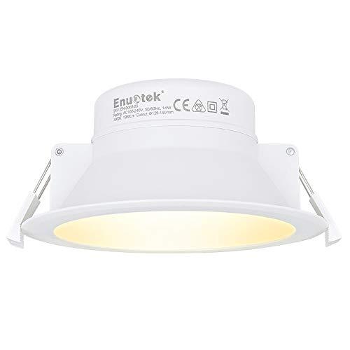 Lampara Plafon Foco de LED Empotrable en Techo Downlight Panel LED 14W...