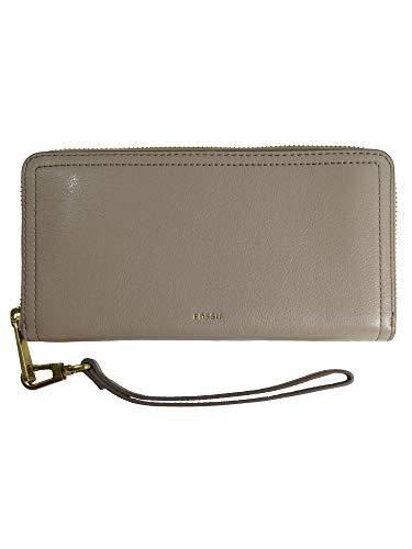 Fossil Damen Geldbörse Portemonnaies RFID Logan Zip Leder Grau SL7831-263 (Portemonnaie Damen Fossil)