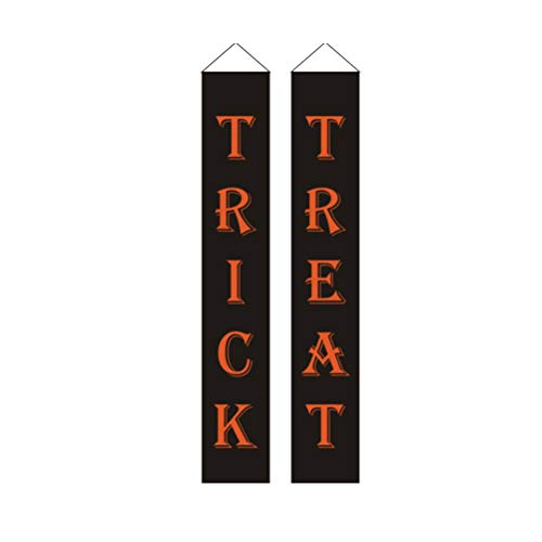 Halloween Süßes Paar Kostüm - Amosfun 1 Paar Halloween Türvorhang Süßes oder Saures Banner Dekoration für Zuhause Kostüm