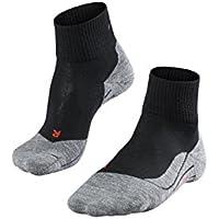 FALKE TK 5 Ultra - Calcetines de senderismo para mujer, tamaño 39-40, color negro