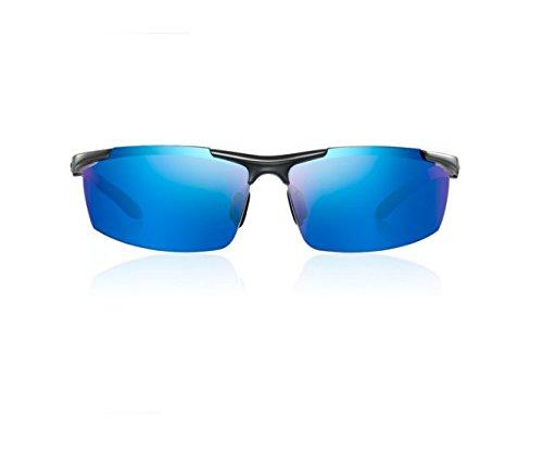 NHDZ Sonnenbrille, Männliche Polarisatoren, Sonnenbrille, Licht, Fahren, Anti Uv-Brille, Sonnenbrille, Retro Piloten, Frame Tide, EIN 19 Frame Gun Farbe/Linse Blau