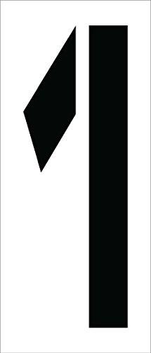 National Marker Corp. PMC24-1 Schablone, Nummer 1, 61 cm