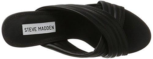 Steve Madden Instant, Sandales À Bout Ouvert Femme Noir (noir)