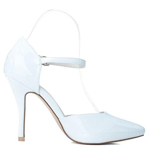 L@YC Scarpe Da Sposa Da Donna # 0255-26 a Punta / PU Tacco alto Con Fibbia In Similpelle / Piattaforma / Notte Champagne