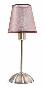 BORA Tischlampe alt Messing Wohnzimmerlampe Schlafzimmer Tischleuchte Nachtlicht Stehlampe Nachtischleuchte Nachttischlampe E14 40Watt