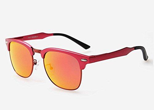 GZD Lunettes de soleil polarisées en magnésium en aluminium de qualité supérieure en couleur Pink