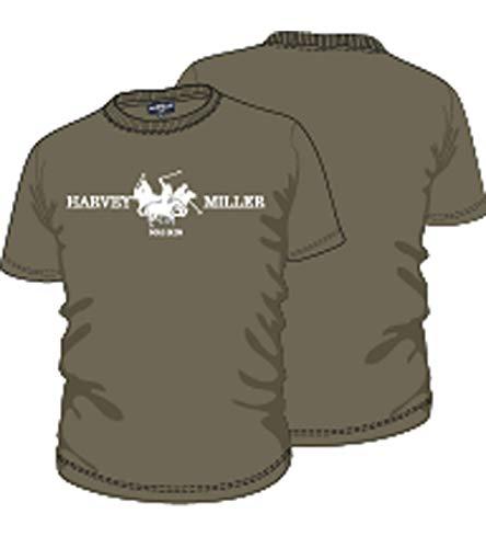 0d95469bc HARVEY MILLER POLO CLUB Chemise en Coton T-Shirt Casual Homme Imprimé Vert,  Taille