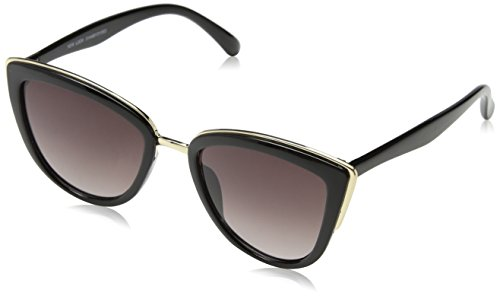 New Look Damen Cait Cat Sonnenbrille, Schwarz (Black), 55