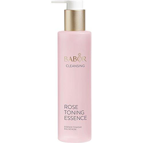 BABOR CLEANSING Rose Toning Essence, Erfrischendes Gesichtswasser für jede Haut, mit leichtem Rosenduft, beruhigt die Haut, alkoholfrei, 1 x 200ml -